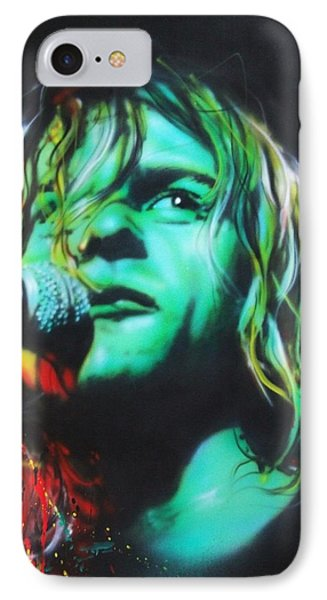 Kurt Cobain - ' Kurdt Kobain ' IPhone Case by Christian Chapman Art