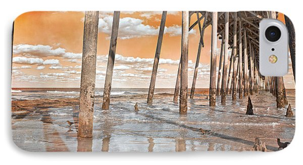 Kure Beach Pier IPhone Case by Betsy Knapp