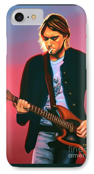 Kurt Cobain In Nirvana Painting IPhone Case