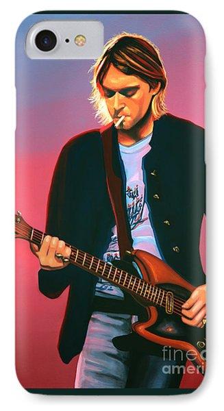 Kurt Cobain In Nirvana Painting IPhone Case by Paul Meijering