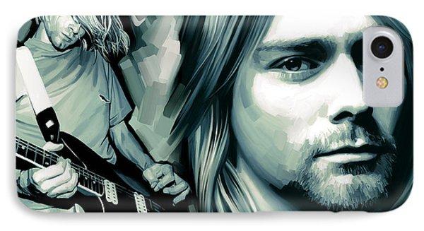 Kurt Cobain Artwork IPhone Case by Sheraz A