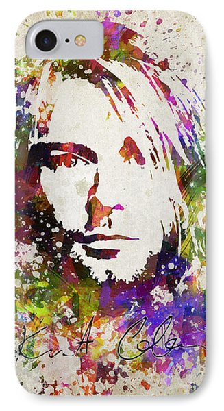 Kurt Cobain In Color IPhone Case by Aged Pixel