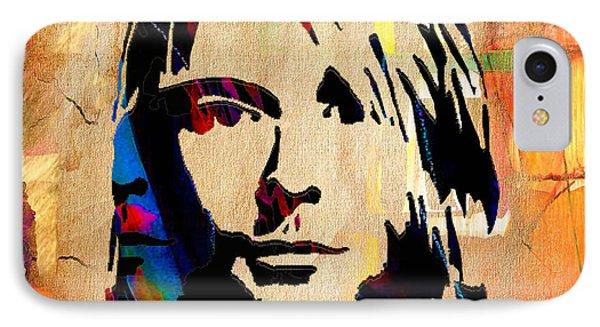 Kurt Cobain Nirvana IPhone Case by Marvin Blaine