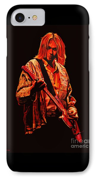Seattle iPhone 7 Case - Kurt Cobain Painting by Paul Meijering