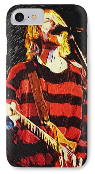 Kurt Cobain IPhone 7 Case by Taylan Apukovska
