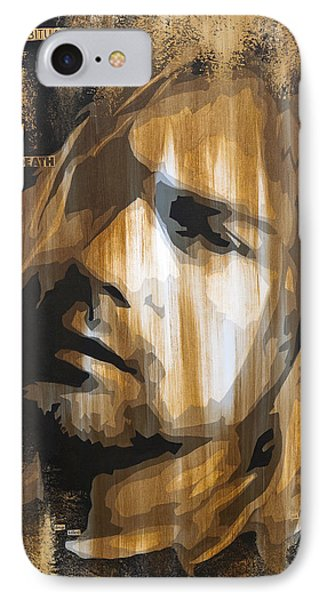 Kurt Cobain Tormented  IPhone 7 Case by Brad Jensen