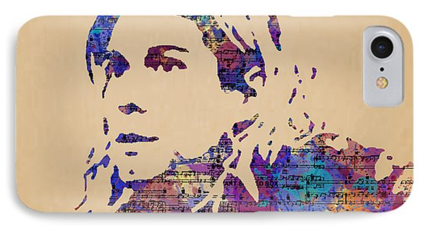 Kurt Cobain Watercolor IPhone Case