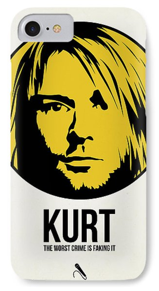 Kurt Poster 1 IPhone Case by Naxart Studio
