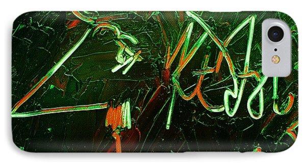Kurt Vonnegut Phone Case by Michael Kulick