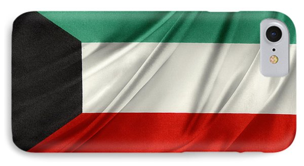 Kuwait Flag  Phone Case by Les Cunliffe