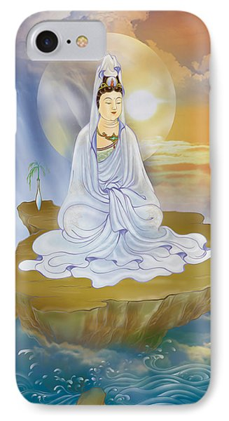Kwan Yin - Goddess Of Compassion IPhone Case by Lanjee Chee
