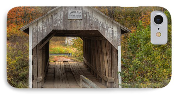 Ky Hillsboro Or Grange City Covered Bridge Phone Case by Jack R Perry
