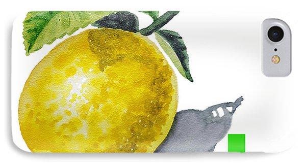 Lemon iPhone 7 Case - L Art Alphabet For Kids Room by Irina Sztukowski