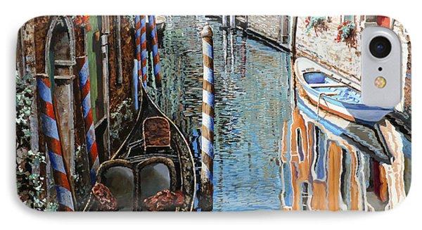 La Barca Al Sole IPhone Case by Guido Borelli