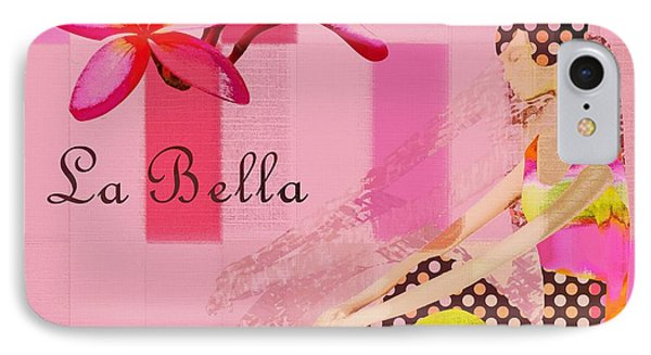 La Bella  - Pink - 055152176-02 IPhone Case by Variance Collections