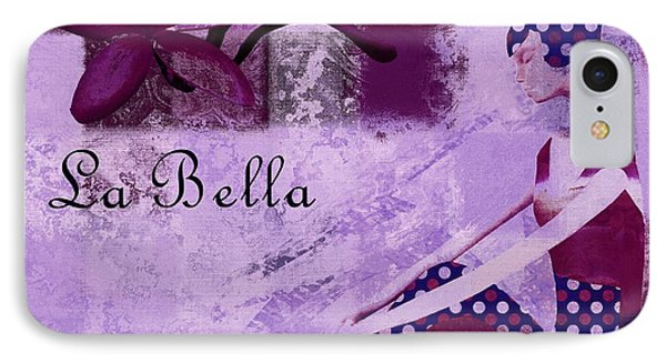 La Bella - Plum - 0640671052-01b IPhone Case by Variance Collections