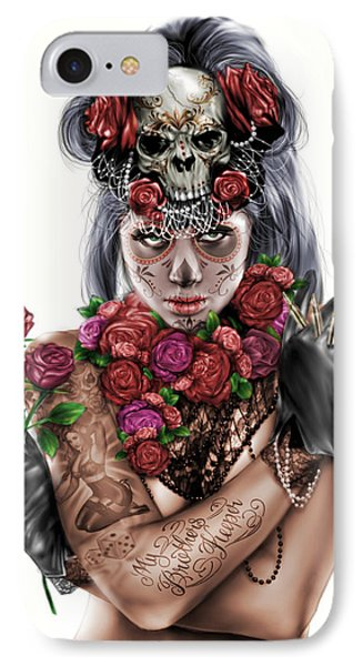 La Calavera Catrina IPhone Case by Pete Tapang
