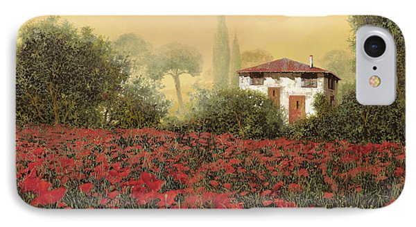 La Casa E I Papaveri IPhone Case by Guido Borelli