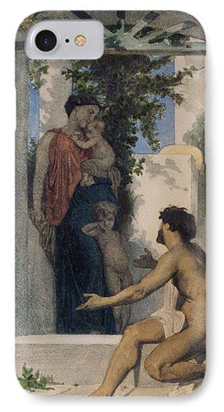 La Charite Romaine IPhone Case by William Bouguereau