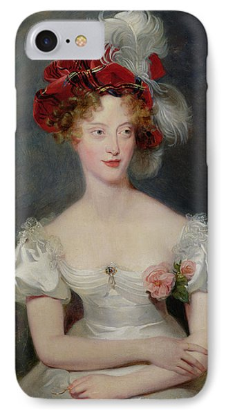 La Duchesse De Berry 1798-1870 C.1825 Oil On Canvas IPhone Case by Sir Thomas Lawrence