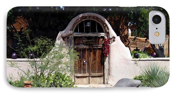 La Entrada A La Casa Vieja De Mesilla Phone Case by Kurt Van Wagner