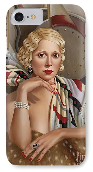 La Femmeen Soiehi  IPhone Case by Catherine Abel
