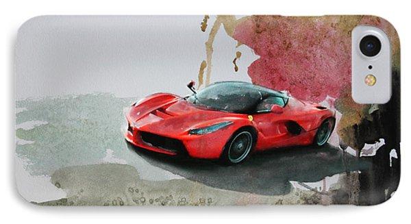 La Ferrari IPhone Case by Roger Lighterness