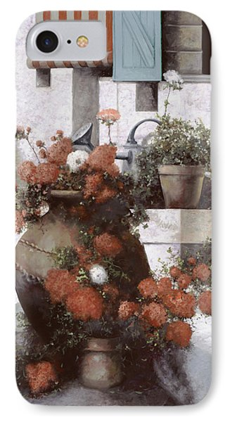 La Giara E I Fiori Rossi Phone Case by Guido Borelli
