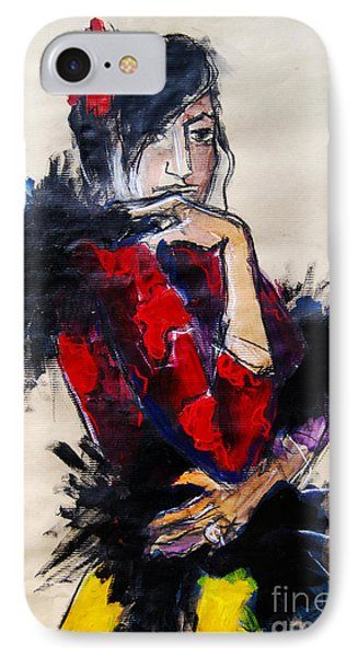 La Gitane - Pia #1 - Figure Series IPhone Case by Mona Edulesco