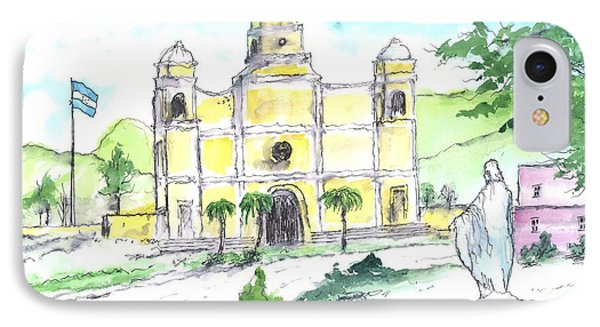 La Iglesia En Santa Barbara Honduras IPhone Case