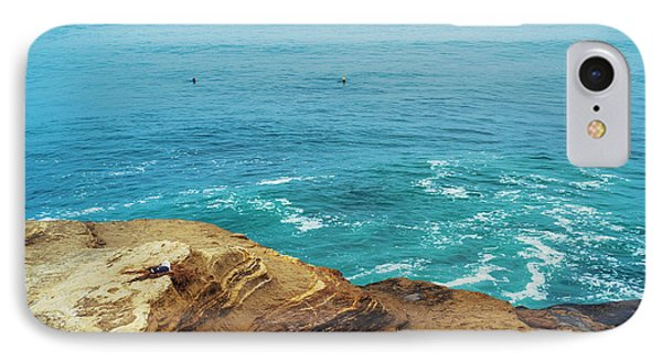 La Jolla Coast Seagull Nest Phone Case by Tanya Harrison
