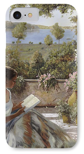 La Lettura All'ombra IPhone Case by Guido Borelli