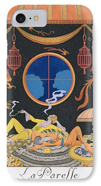 La Paresse IPhone Case by Georges Barbier
