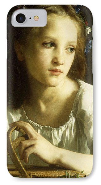 La Petite Ophelie Phone Case by William Adolphe Bouguereau