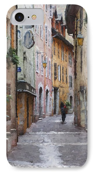 La Pietonne A Annecy - France IPhone Case by Jean-Pierre Ducondi