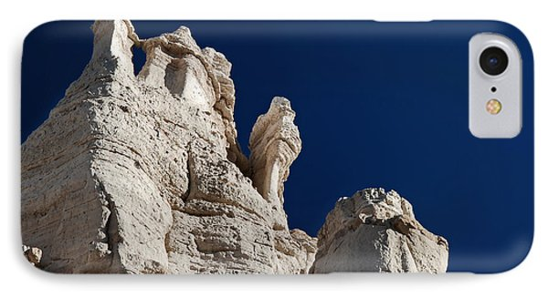 La Plaza Blanca - Figure Of Mary IPhone Case by Julie VanDore