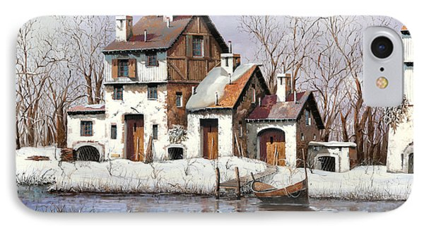 La Prima Neve IPhone Case by Guido Borelli