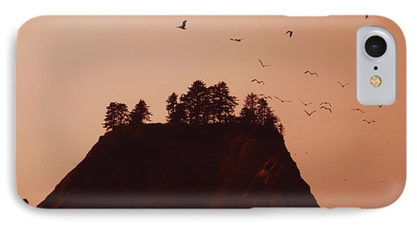 La Push Silhouette With Birds Phone Case by Kym Backland