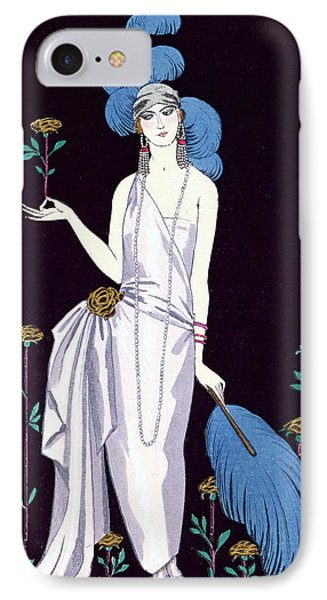 'la Roseraie' Fashion Design For An Evening Dress By The House Of Worth IPhone 7 Case by Georges Barbier