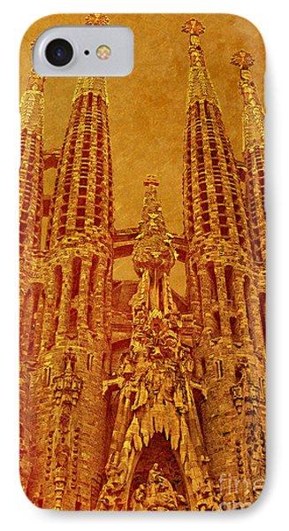 IPhone Case featuring the photograph La Sagrada Familia by Nigel Fletcher-Jones