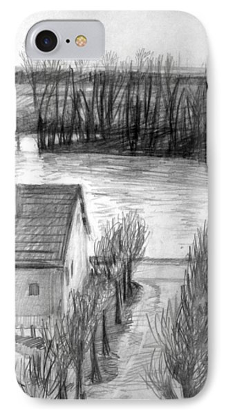 La Seine At Herblay IPhone Case by Mark Lunde