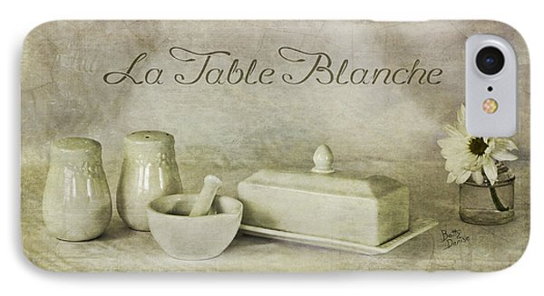 La Table Blanche - The White Table IPhone Case by Betty Denise
