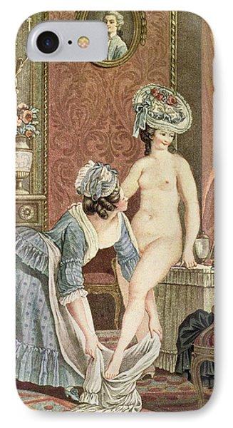 La Toilette Engraving By Louis Marin IPhone Case