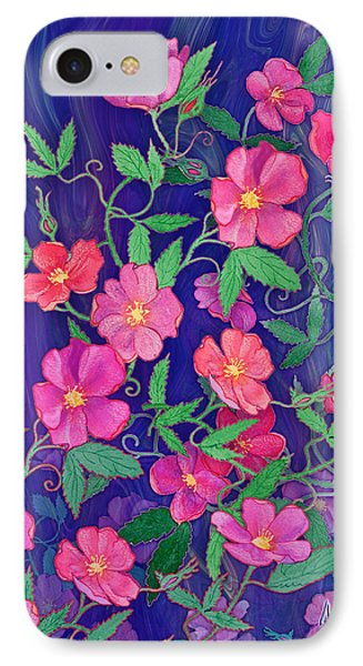 IPhone Case featuring the mixed media La Vie En Rose by Teresa Ascone