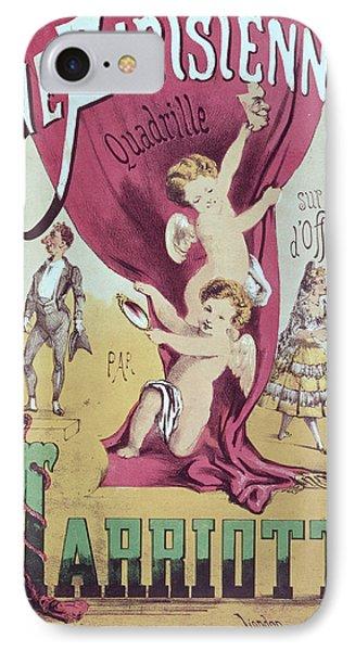 La Vie Parisienne Quadrille Poster IPhone Case by English School