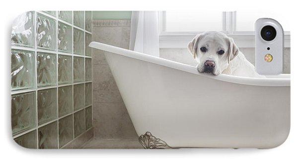 Lab In A Bathtub Phone Case by Diane Diederich