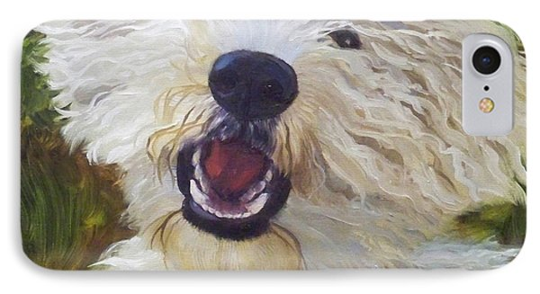 Labradoodle IPhone Case by Alice Leggett