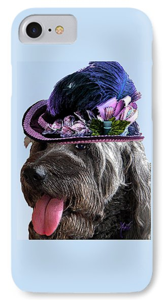 Labradoodle Trudy To The Derby IPhone Case by Michele Avanti