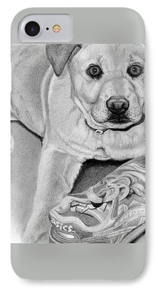 Sneaker Snatcher- Labrador And Chow Chowx Mix IPhone Case by Sarah Batalka