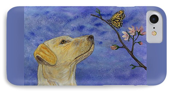 IPhone Case featuring the painting Labrador Enchanted by Ella Kaye Dickey
